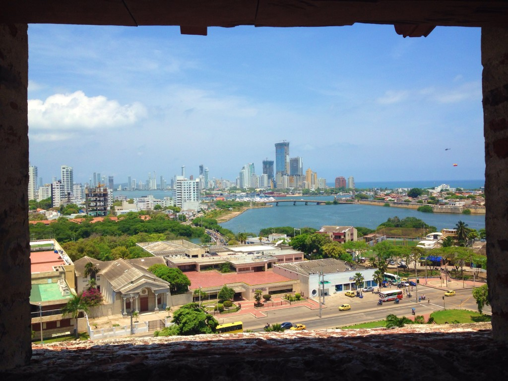 Beautiful views of Cartagena