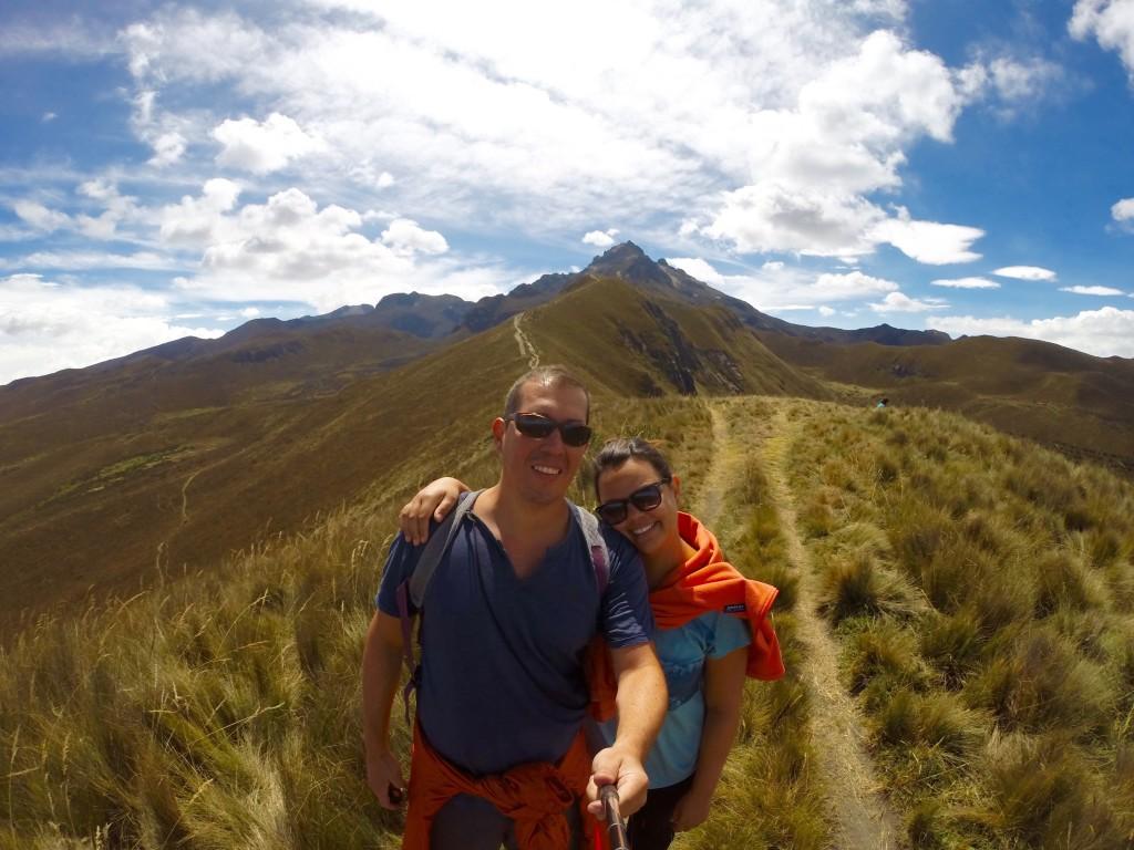 Pichincha Volcano in the background