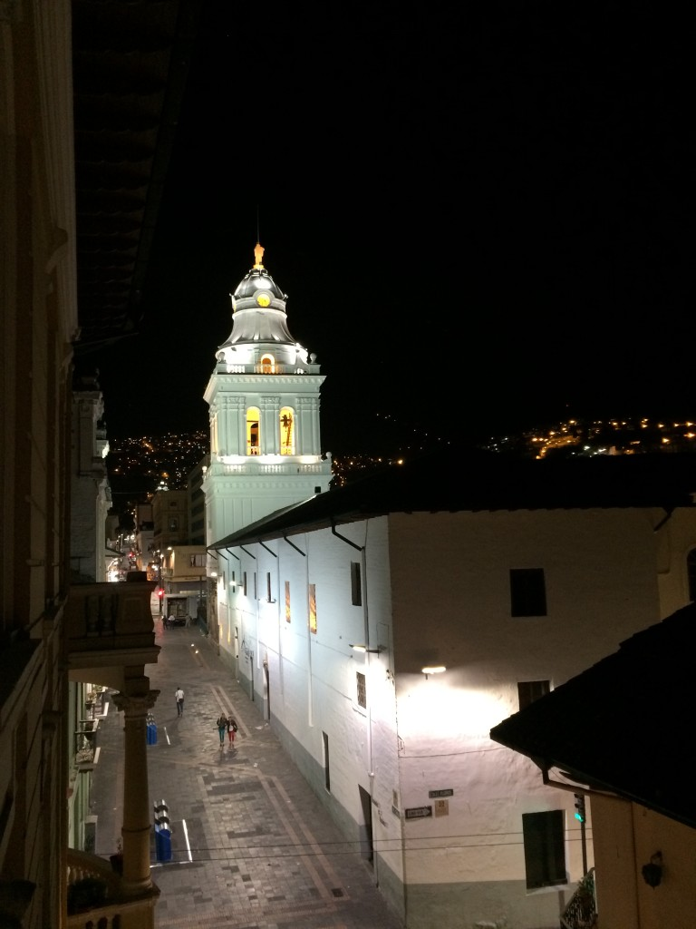 Night views in Quito