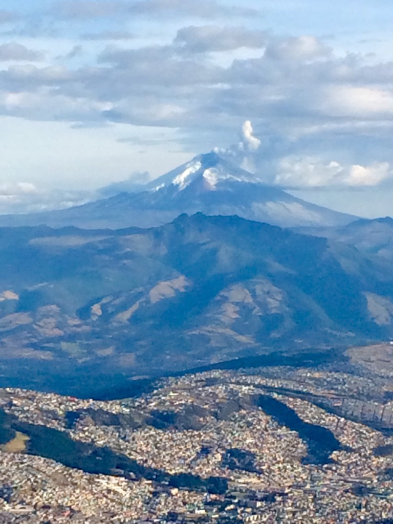 Views of Cotopaxi erupting