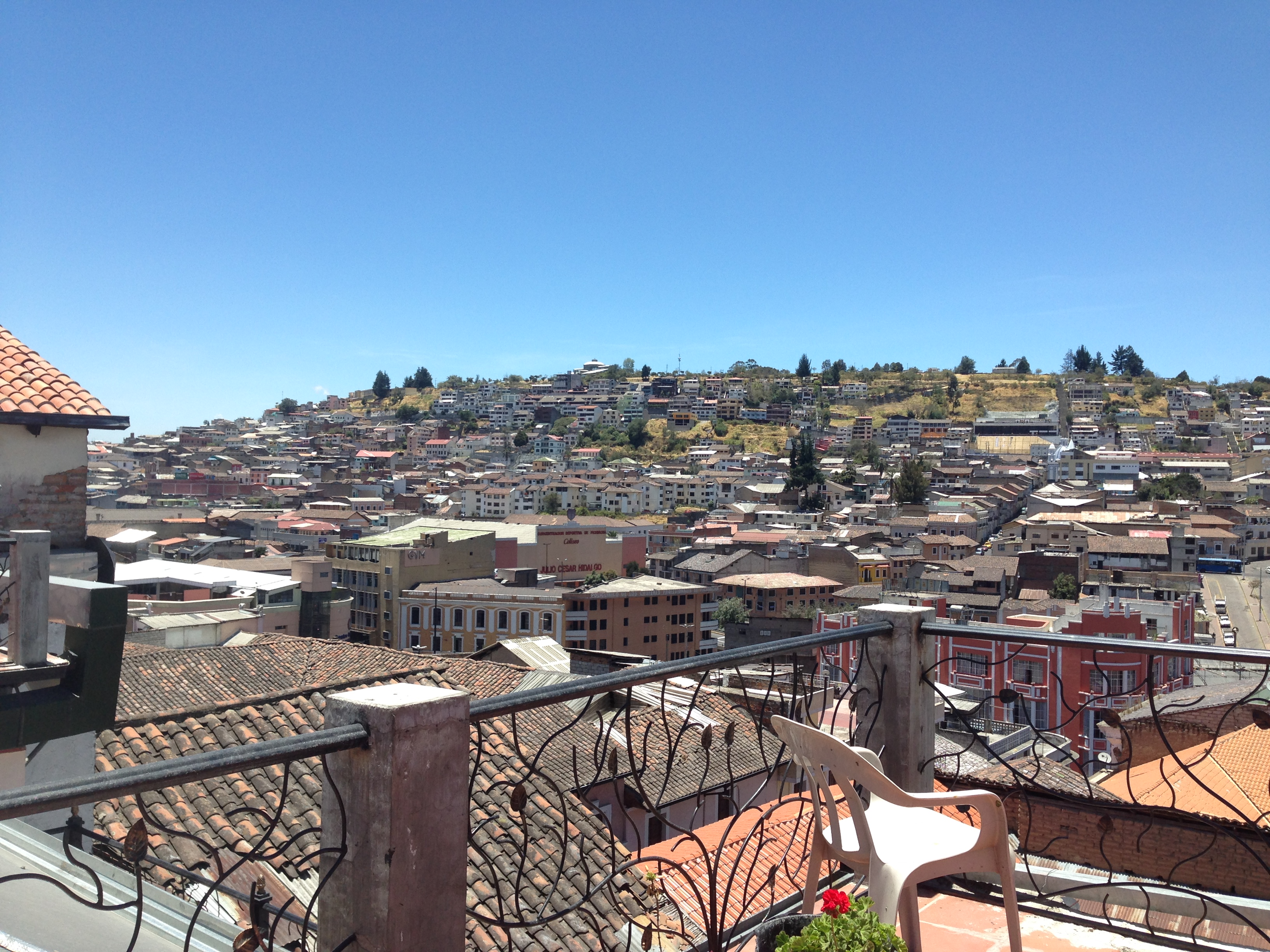 Great rooftop views at our hostel