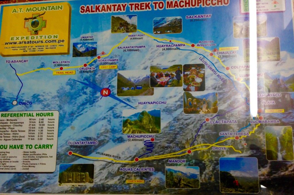 Sample map of our trek
