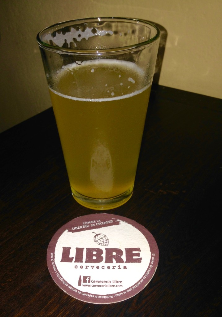 Beer at Cerveceria Libre in Medellin