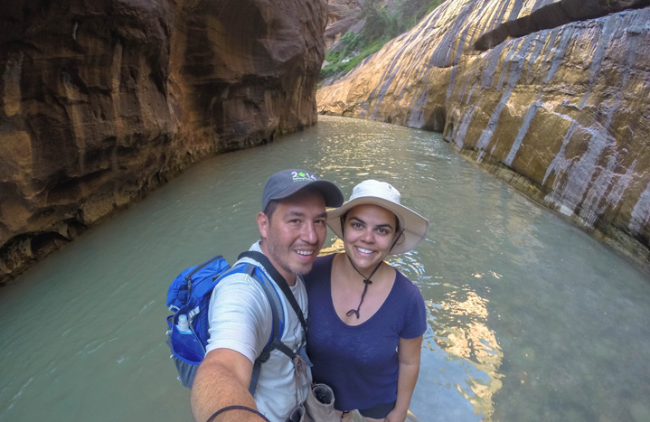 Cool experience hiking The Narrows through water