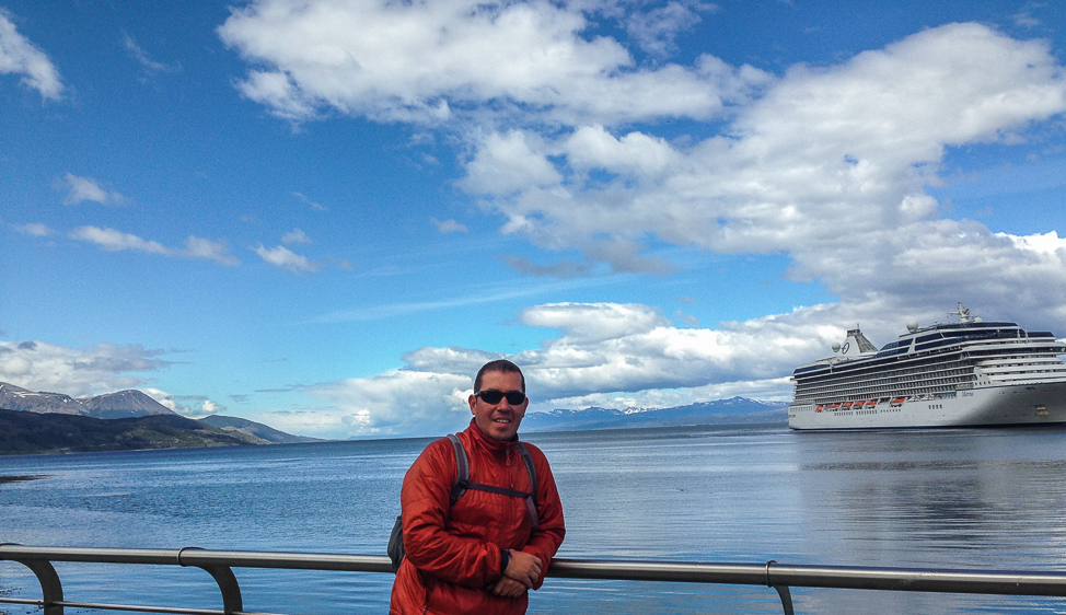 Enjoying the sunshine- Ushuaia