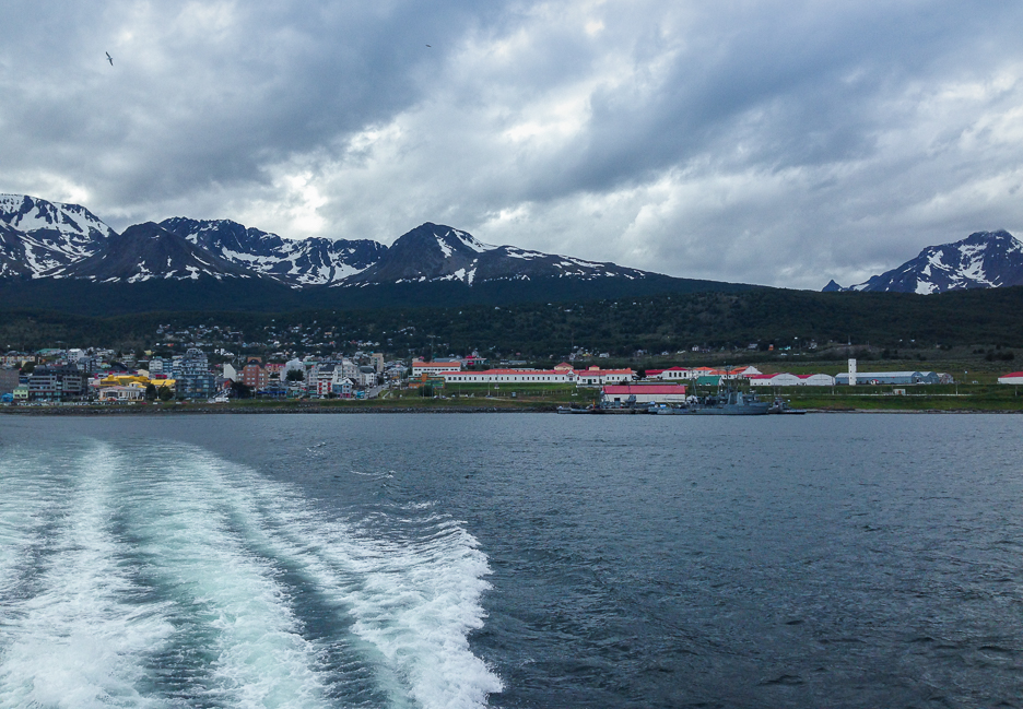 Ushuaia as seen from the boat