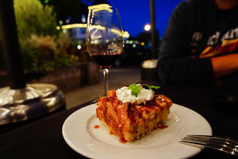 The bread pudding at Succulent is delicious!