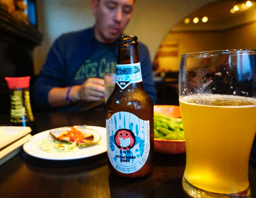 Great dinner and beer at Zum Sushi