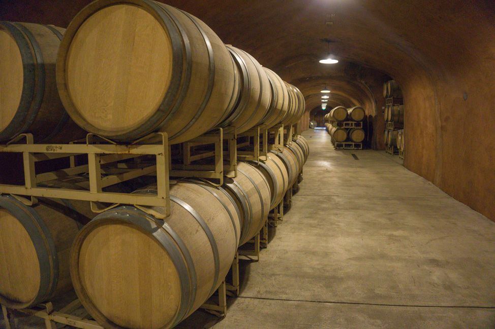 The wine cellar- a stop along the tour- Benziger Winery