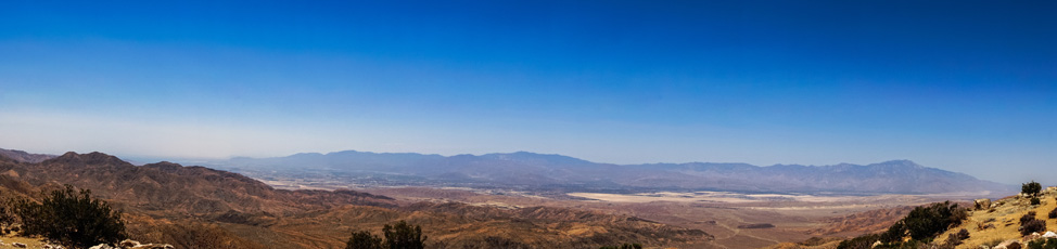 Panorama of Coachella Valley